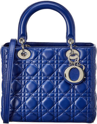 Christian Dior Lady Quilted Leather Tote