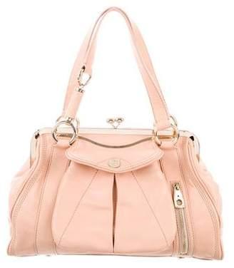 Celine Pebbled Leather Frame Bag