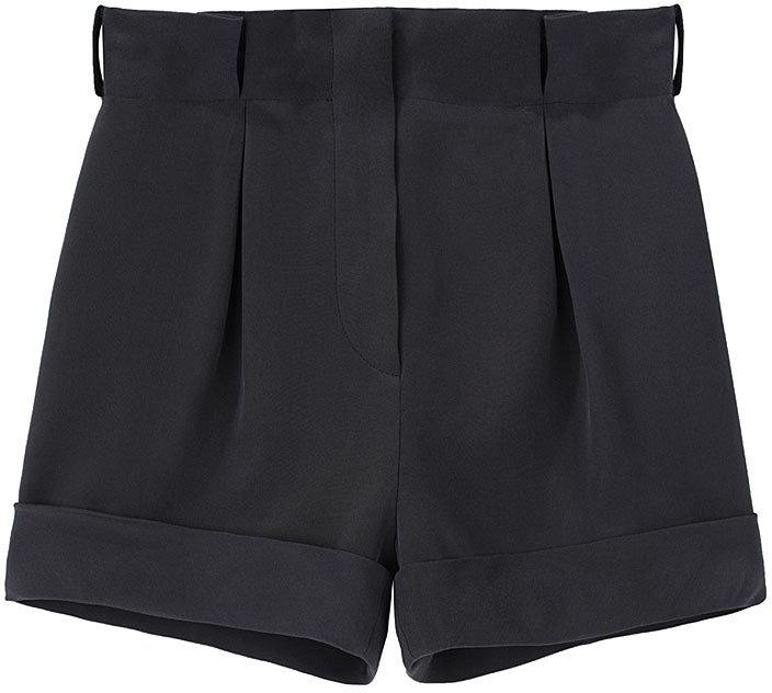 Cacharel / Cuffed Silk Shorts