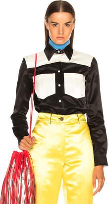 Calvin Klein Colorblocked Shirt in Black | FWRD