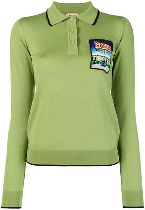 No.21 embroidered polo T-shirt