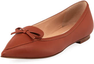 Valentino Smooth Leather Bow Ballet Flats