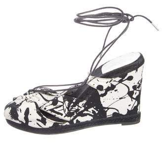 Hermes Printed Wrap-Around Wedges