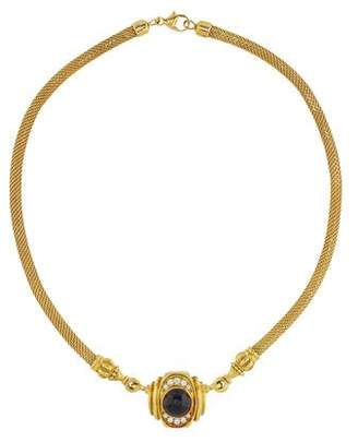 Lagos 18K Diamond & Onyx Interchangeable Collar Necklace