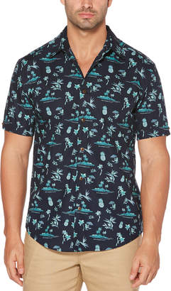 Cubavera Big & Tall Miniature Caribbean Print Shirt