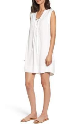 Splendid Lace-Up Sleeveless Shift Dress