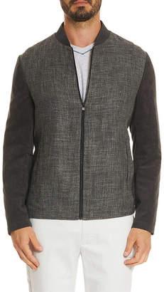 Robert Graham Tailored Fit Marino Suede-Trim Linen-Blend Woven Jacket