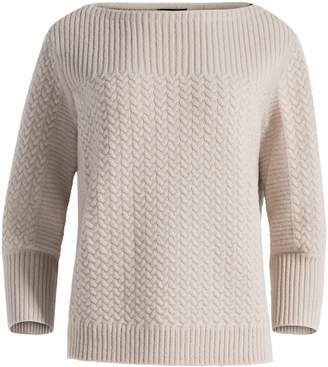 St. John Cable Cashmere Knit Sweater