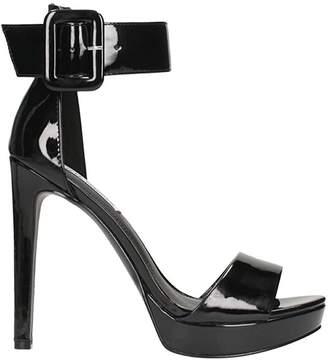 Steve Madden Black Patent Sandal