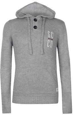Soul Cal SoulCal Mens Knitted Hoodie Jumper Hoody Hooded Top Sweater Pullover Long Sleeve