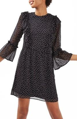 Women's Topshop Spot Ruffle Flute Dress $90 thestylecure.com
