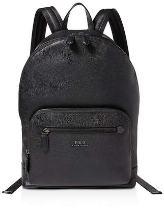 Polo Ralph Lauren Pebbled-Leather Backpack