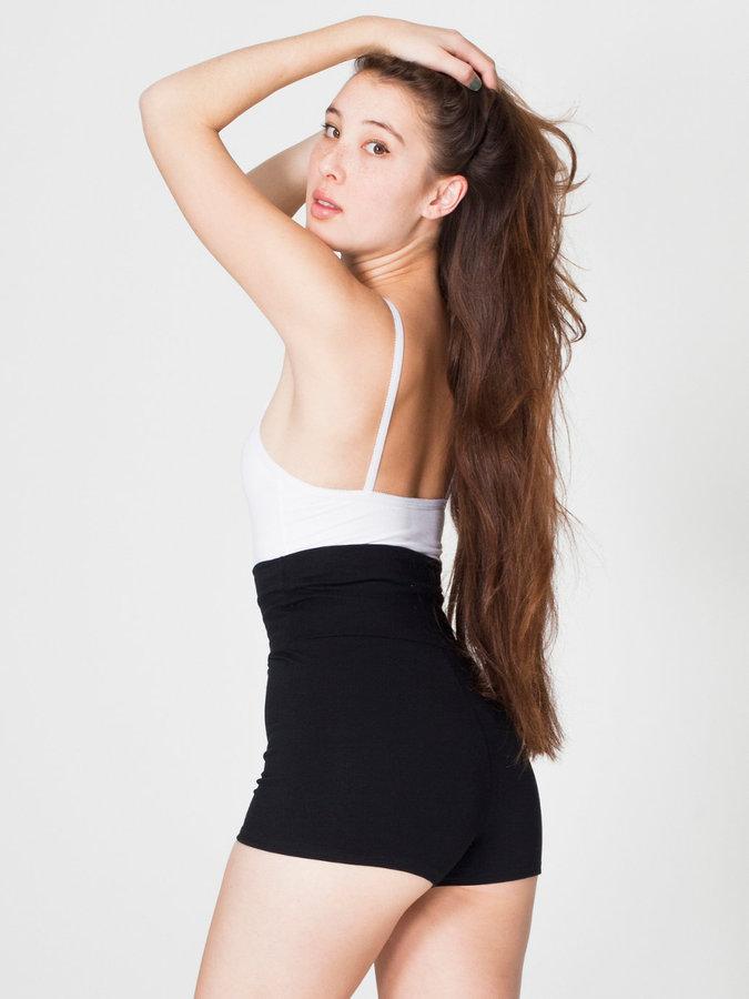 American Apparel Cotton Spandex Jersey High-Waist Hot Short