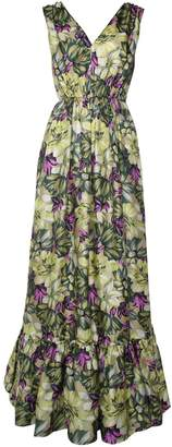 MSGM Floral-print Silk Gown