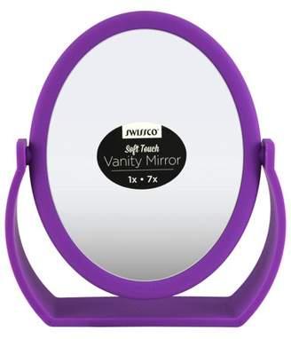 Swissco Soft Touch Oval Vanity Mirror, Purple