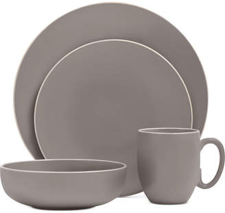 Vera Wang Wedgwood Vera Color Gray 16-Piece Dinnerware Set, Service for 4