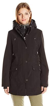Nautica Women's Soft Shell with Quilted Bib/Hood $56.90 thestylecure.com