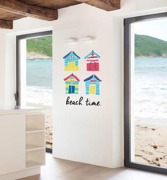 Little Sticker Boy Brighton Beach Huts Wall Decal