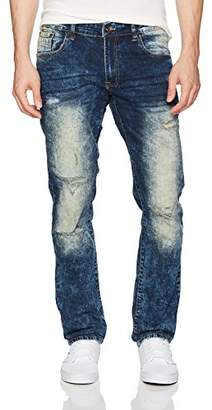 WT02 Men's Clean Washed Fashion Stretch Ripped Denim Patns