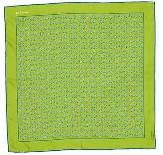 Kiton Silk Printed Pocket Square