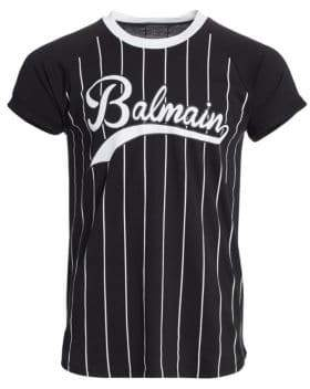 Balmain Logo Cotton Baseball Tee