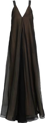 Brunello Cucinelli (ブルネロ クチネリ) - Brunello Cucinelli ビーズ付き シルクオーガンザ ロングドレス