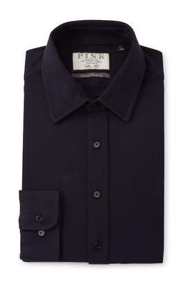 Thomas Pink Slim Fit Mark Plain Dress Shirt