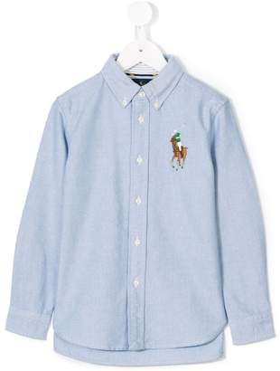 Ralph Lauren Kids logo embroidered denim shirt