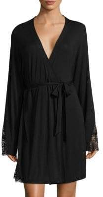 Cosabella Brooklyn Lace-Trimmed Robe