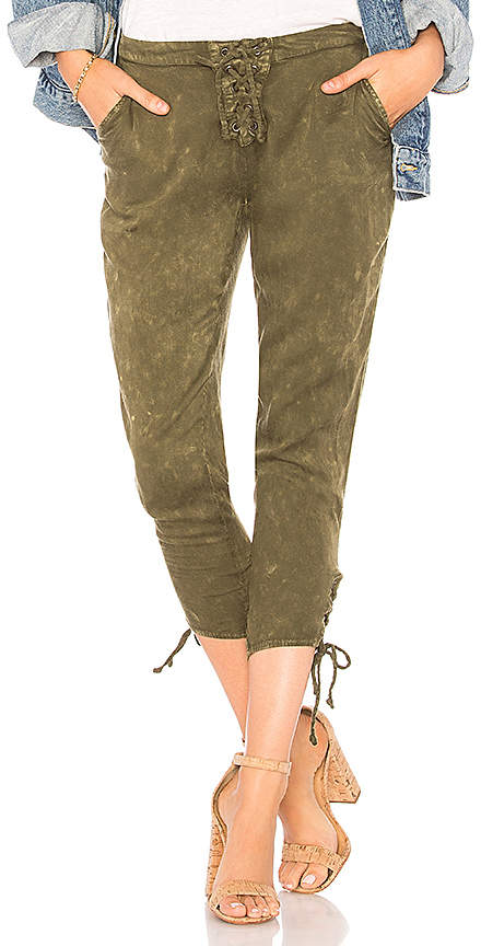 Heirloom Lace Up Cropped Pant