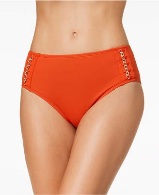 Kenneth Cole Chain Reaction Hardware Bikini Bottoms Women's Swimsuit