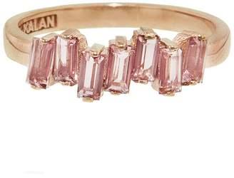 Suzanne Kalan KALAN By Uneven Baguette Morganite Ring - Rose Gold