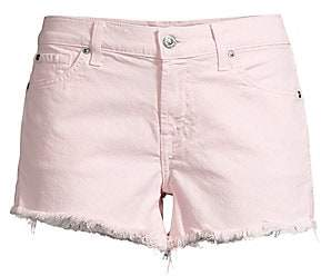 7 For All Mankind Women's Frayed Hem Cut-Off Shorts