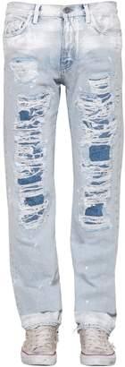 Faith Connexion 20cm Destroyed Slim Cotton Denim Jeans