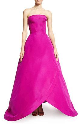 Zac Posen Strapless Tulip-Hem Gown, Magenta $5,990 thestylecure.com