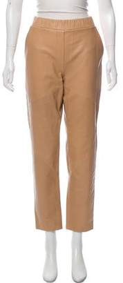 Rebecca Minkoff Mid-Rise Leather Pants