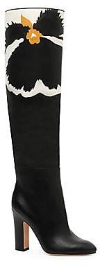 Valentino Garavani Women's Bloom Knee-High Leather Boots