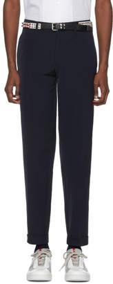 Prada Navy Tech Stretch Trousers
