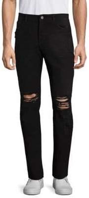 DL Premium Denim Cooper Distressed Slim Fit Jeans