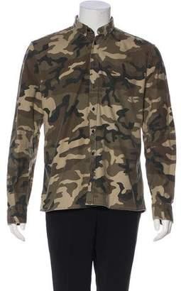 Balmain Camouflage Button-Up Jacket
