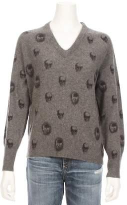 360 Sweater Riley V-Neck Skull Cashmere Sweater