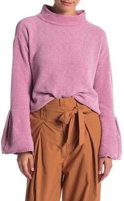 Melrose and Market Mock Neck Knit Sweater