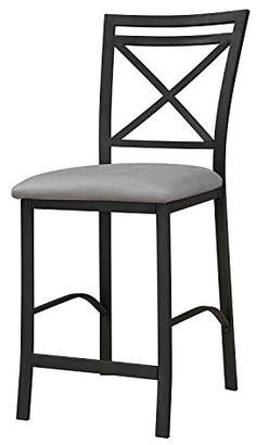Dorel Living Devon Crossback Counter Height Padded Metal Dining Chair