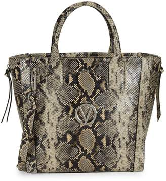 Mario Valentino Valentino By Charmont Snake-Embossed Leather Satchel