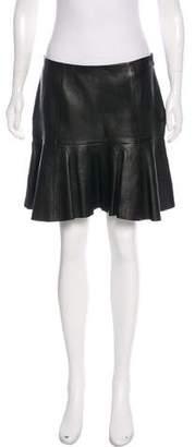 Ralph Lauren Leather Mini Skirt