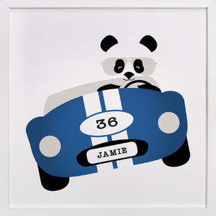 Speedway Panda Children's Custom Art Print
