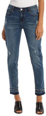 Grab NEW Jean Slim Leg With Double Hem Mid Blues