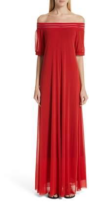 abdfb6b40b Fuzzi Illusion Off the Shoulder Maxi Dress