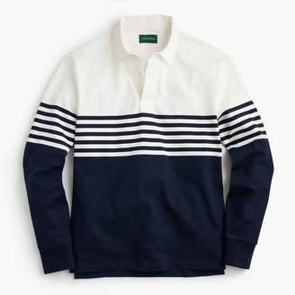J.Crew 1984 Rugby Shirt In Colorblock Stripe