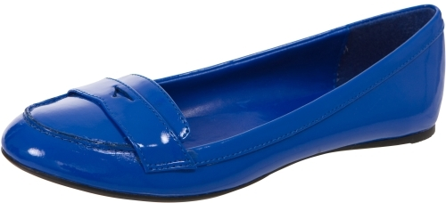 Patent Penny Loafer Flats